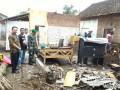 Koramil 0814/01 Kota Bantu Pembangunan Rumah Ambruk