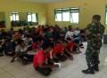 Danramil 0811/01 Kota Tanamkan Wasbang Kepada Peserta Diklatsar Banser