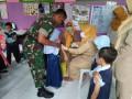 Koramil 07/Jetis Dukung Penuh UPT Puskesmas Maksimalkan Imunisasi  Difteri