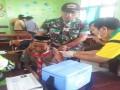 Pendampingan TNI dalam Imunisasi Difteri terus di gencarkan di kab Lamongan