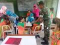 Koramil 0815/05 Gedeg Bantu UPT Puskesmas Dalam Imunisasi Difteri