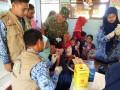 Pelaksanaan ORI Difteri Di Kemlagi Mendapat Dukungan Koramil 0815/06