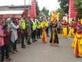 Babinsa Dlanggu Bersama Bhabinkamtibmas & Pam Swakarsa  Lakukan Pengamanan Pawai Ta'aruf TPQ Nur Al Fitroh