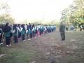 Latih Kedisiplinan Dalam Diklat Kader Numajelis Wakil Cabang Oleh Babinsa Koramil Sugio