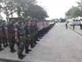 Personil TNI-Polri Perketat Pengamanan Dalam Kompetisi Liga 1 Di Stadiun Surajaya Lamongan