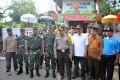 Danrem 082/CPYJ Sambut Kedatangan Pangdam Dan Kapolda Jatim Di TPS Unik  Mojokerto