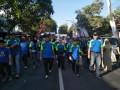 Bersama  forkopimda ,Dandim 0812 hadiri kegiatan Jalan sehat dalam rangka memperingati Hari Jadi Lamongan ke-449