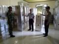 Personil TNI Polri Pastikan Dalam Pengiriman Hasil Kotak Suara Aman Sampai Ke PPK