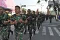 Lari Jalanan Minggu Militer Jaga Kebugaran Prajurit 082/CPYJ