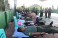 Ratusan Peserta Donor Darah Serbu  Baksos Kodim  0813 Bojonegoro