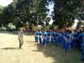 Babinsa Koramil Trawas Latih PBB Dan Ajarkan Wawasan Kebangsaan