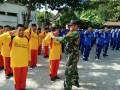 Bangun Karakter Dan Disiplin Sejak Dini, TNI Koramil Kapas Latih Pelajar MA/MTs Ponpes Sirojul Hikmah Dengan PBB