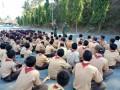 Babinsa Koramil Senori Latih PBB Siswa SMP Migas
