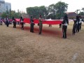 Ratusan Anggota TNI, Pns dDan Persit Kodim Bojonegoro Ikuti Senam Poco-Poco Nusantara