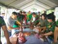Kodim Kediri Bagikan 2.160 Paket Daging Kurban Di Hari Raya Idul Adha