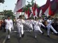 Gerak Jalan Semarakan HUT Ke-73 Kemerdekaan RI Berlangsung Di Mojokerto