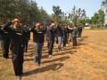 124 orang  anggota Banser mendapat pembekalan materi Peraturan Baris- Berbaris (PBB)