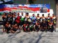 Wujud sinergitas TNI/Polri di kab Lamongan dalam rangka mengajak masyarakat agar Pemilu Damai 2019 berjalan dengan aman, damai dan kondusif dalam kegiatan Fun Bike