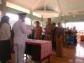 Danramil 0815/13 Kutorejo Hadiri Pelantikan Perangkat Desa Gedangan