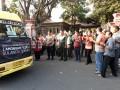 Bersama Forkopimda kab Lamongan, Dandim 0812 turut dalam melepas PemberangkatanBantuan Bencana Alam menuju ke Kab. Palu Provinsi Sulawesi Tengah