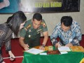 Korem 082/CPYJ MOU dengan Bank Mandiri Cabang Mojokerto.