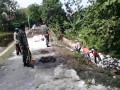 Serbuan Teritorial Babinsa Modo Dalam Pembuatan Plengsengan Atau Tembok Penahan Tanah