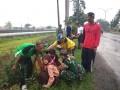 Babinsa Koramil 0815/08 Dawarblandong Latih Linmas Tanggap Bencana*
