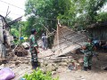 Pasca Bencana Angin Puting Beliung, Koramil 0813-03/Balen Gelar Karya Bakti TNI