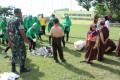 100 orang turut andil dalam kepedulian Hari Peduli Sampah Nasionaldi Wilayah Kodim 0812