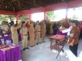 Pelantikan Empat Perangkat Desa Sidomulyo Disaksikan Danramil 0815/10 Dan Forpimka Bangsal