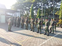 Pasca Coblosan Prajurit Kodim 0815 Mojokerto Masih Disiagakan
