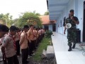 Bentuk Karakter Disiplin, Babinsa Koramil 0815/10 Bangsal Latih Pramuka SMK Kusuma Bangsa