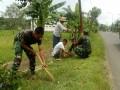 Koramil 0811/19 Montong Hijaukan Kanan Kiri Jalan Provinsi
