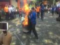 TNI – Polri – BPD – Relawan Gelar Simulasi Penanggulangan Bencana