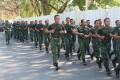 Warnai Minggu Militer, Dandim 0812 ajak Anggota lari jalan sekitaran Kota Lamongan