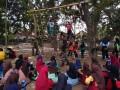 Koramil Mojoroto Membuat Tantangan Outbond Di Lereng Gunung Klotok