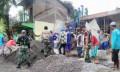 Koramil Kalitidu Dan Masyarakat Gotong-Royong Cor Lantai Dua Gedung Sekolah Ponpes Al Makmur